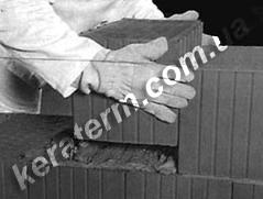 Кладка керамичних блоків Кератерм. Фото, поради