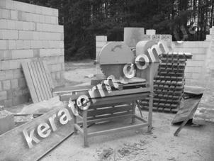 Кладка прирезанных керамических блоков