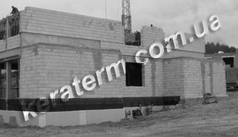 Кладка 1 м2 однорядной стіни з керамічних блоків КЕРАТЕРМ. Фото, поради