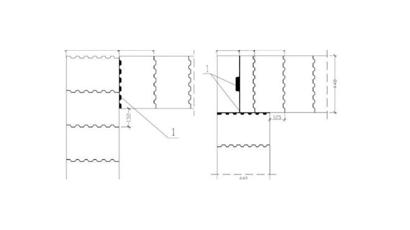 Правильный угол из керамоблока. Фото, статті