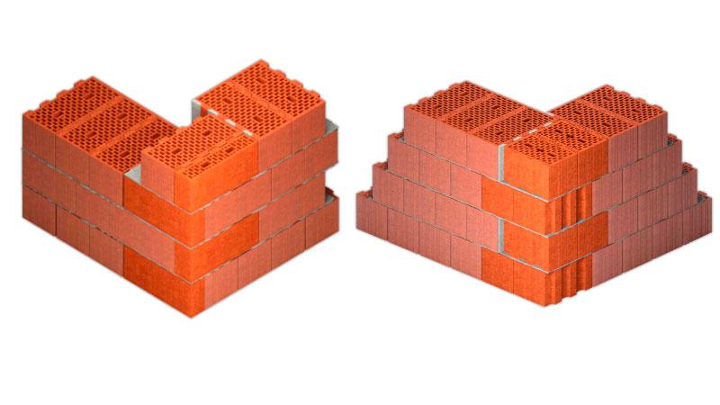 Как выкладывать внешний угол из керамических блоков. Фото, статьи
